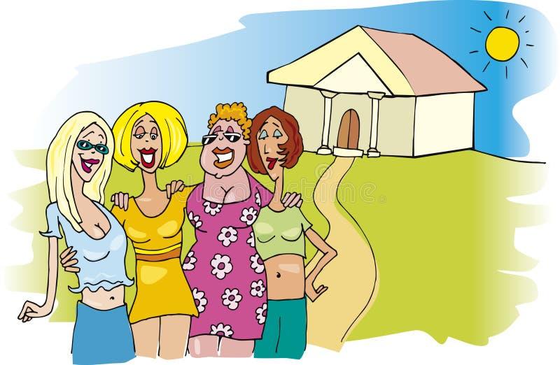 Se réunir de femmes illustration libre de droits