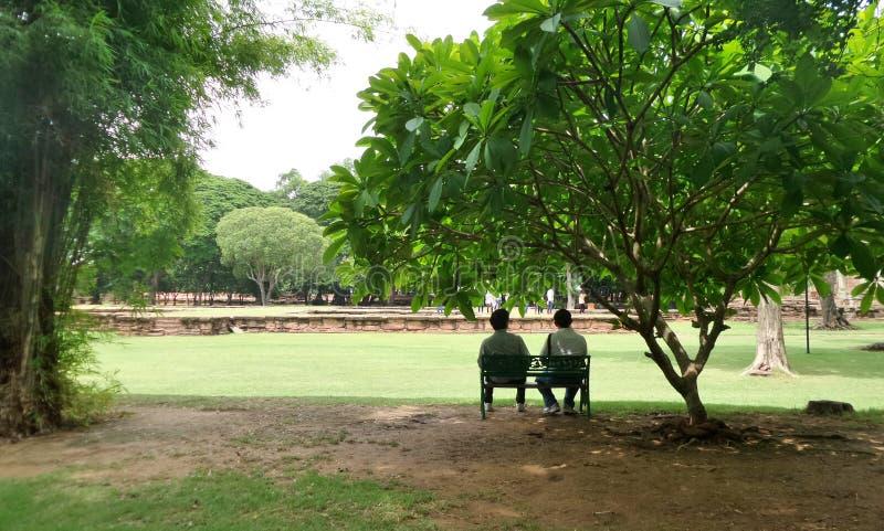 Se réunir en parc historique images libres de droits