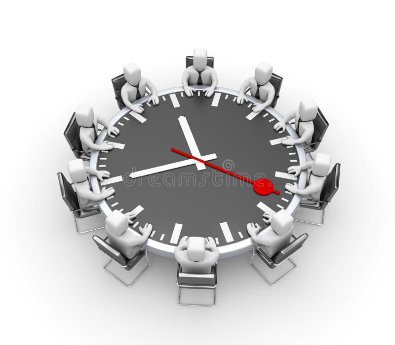Se réunir Tableau sous forme d'horloge illustration stock