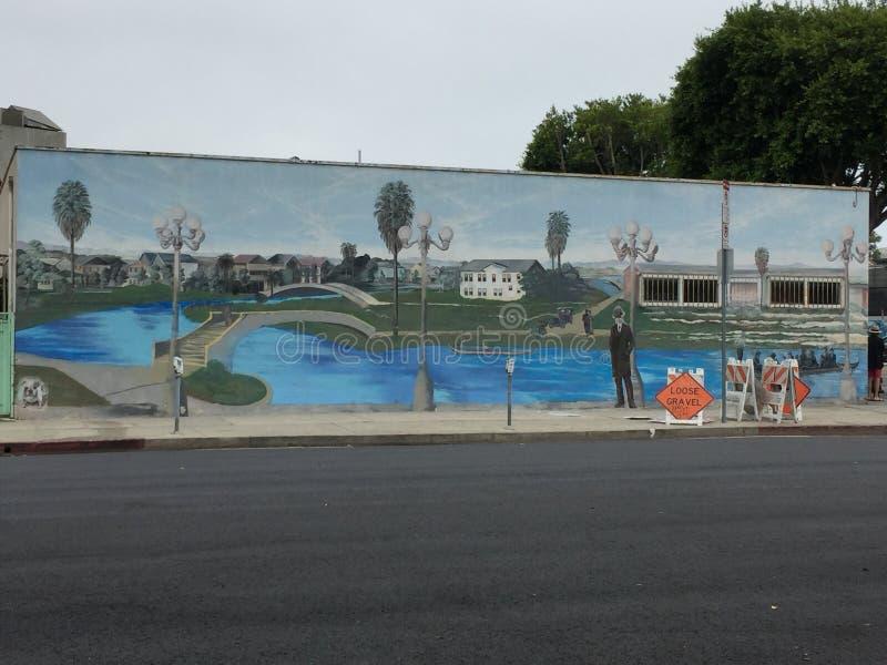 Se rappeler la peinture murale de Venise 1913 images stock