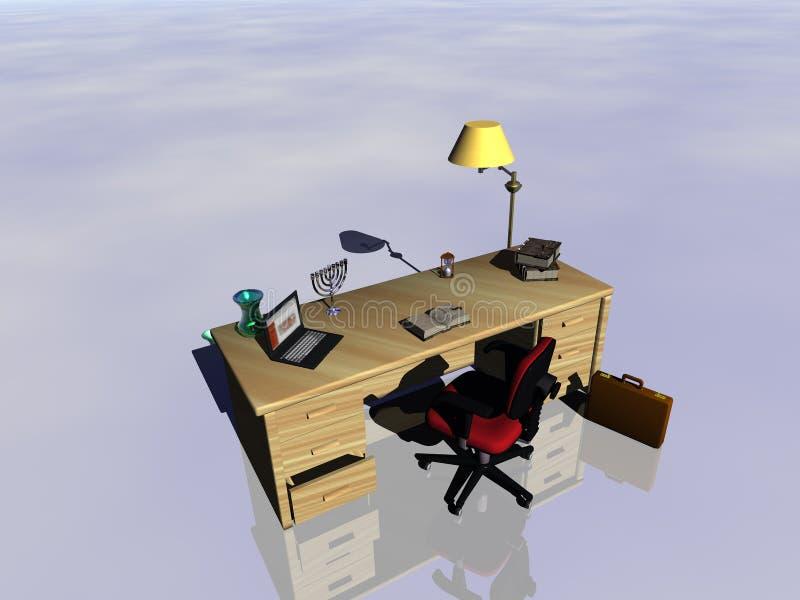 Se refléter de bureau. illustration libre de droits