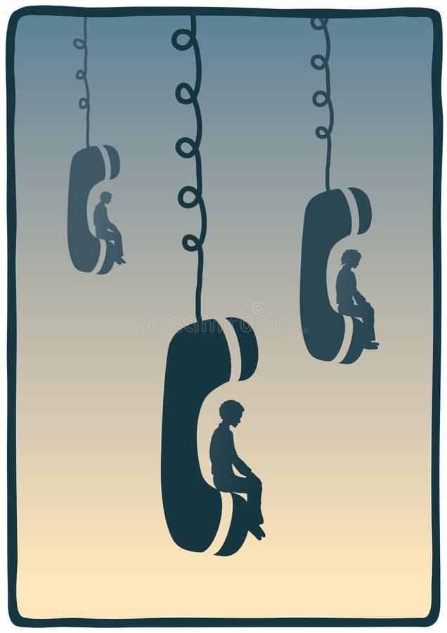 Se reposer au téléphone illustration de vecteur