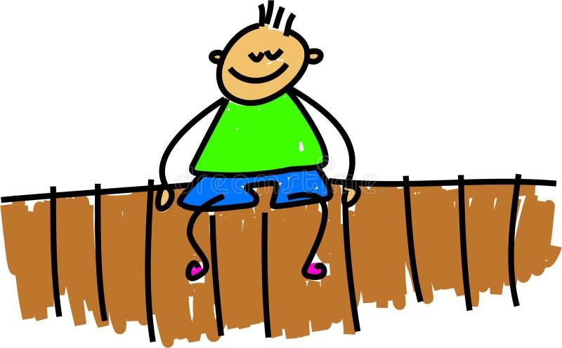 Download Se Reposer Sur La Frontière De Sécurité Illustration Stock - Illustration du toddler, wooden: 2134153