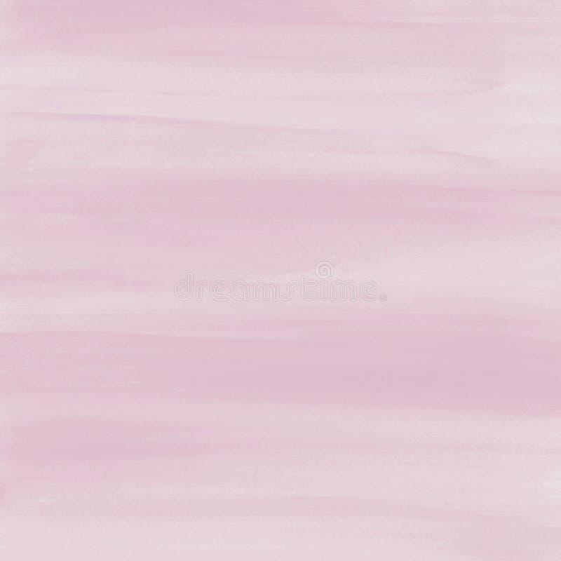 Se ruboriza el fondo rosado de la textura de la acuarela, pintado a mano stock de ilustración