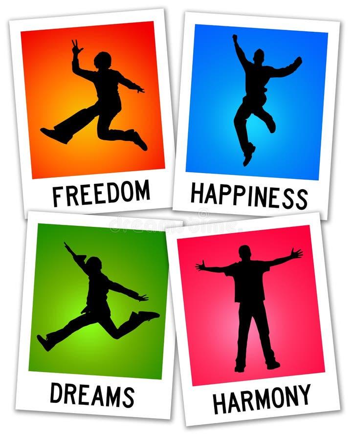 Se sentir heureux illustration libre de droits