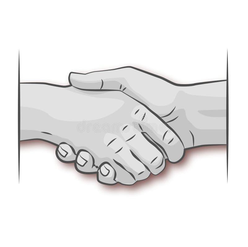 Se serrer la main illustration libre de droits