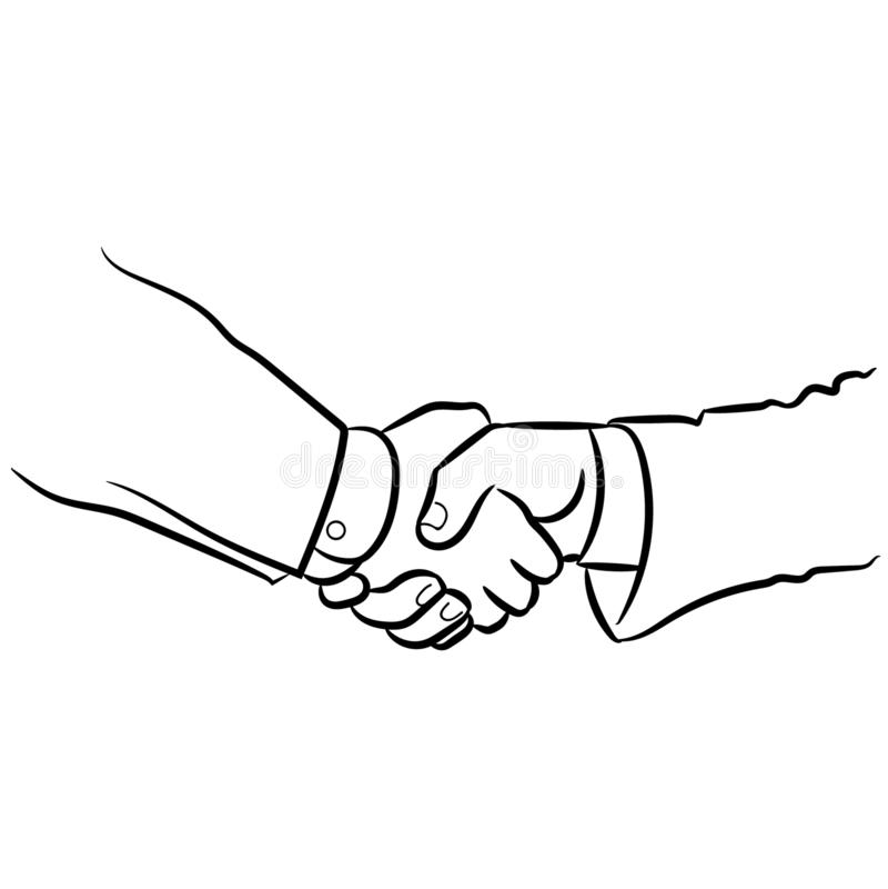 Se serrer la main l'illustration par des crafteroks illustration de vecteur