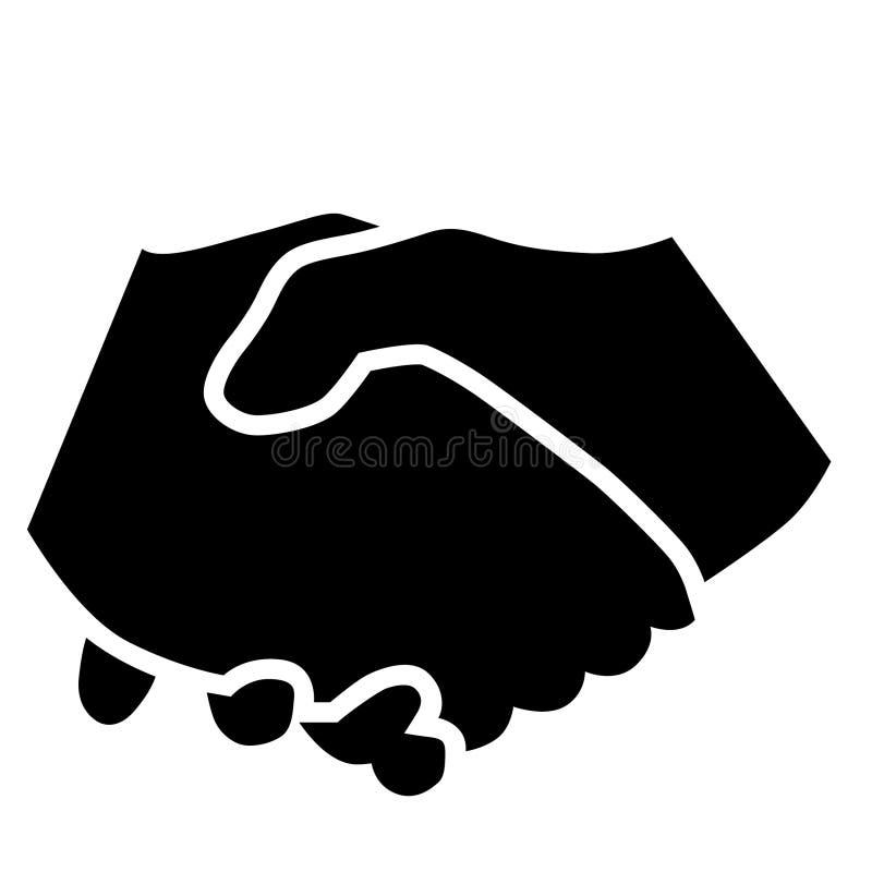 Se serrer la main l'illustration par des crafteroks illustration libre de droits