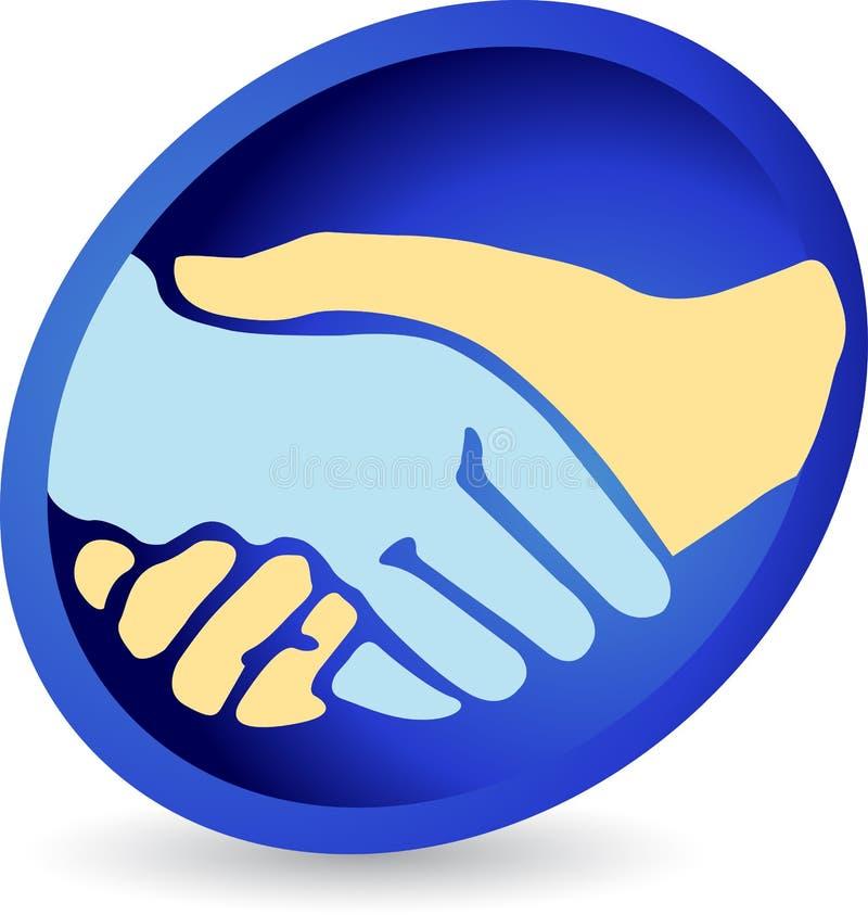 Se serrer la main le logo illustration de vecteur