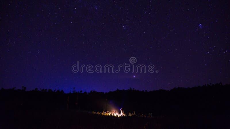 Se stjärnor i himlen royaltyfri bild