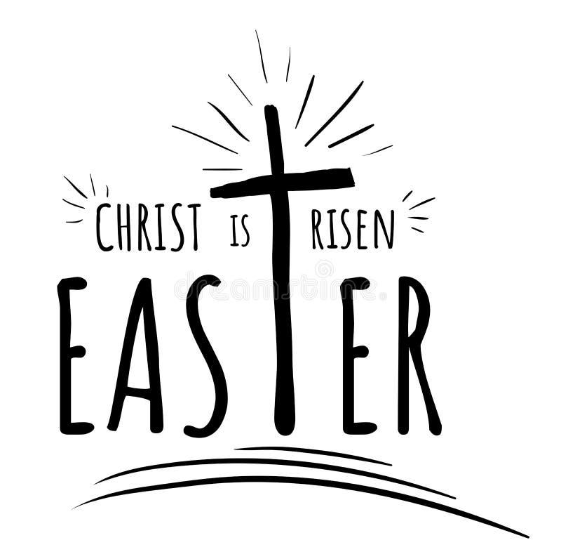 Se suben las letras, texto Cristo, Pascua libre illustration