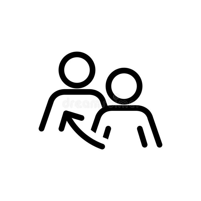 Se symbolen, vektorillustration stock illustrationer