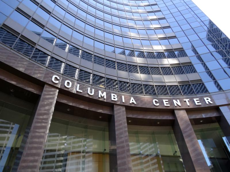Se upp på den Columbia mitten fotografering för bildbyråer