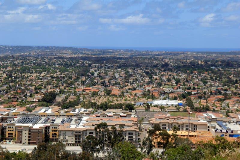 Se ut över dalen, San Diego, Kalifornien, 2016 arkivfoto