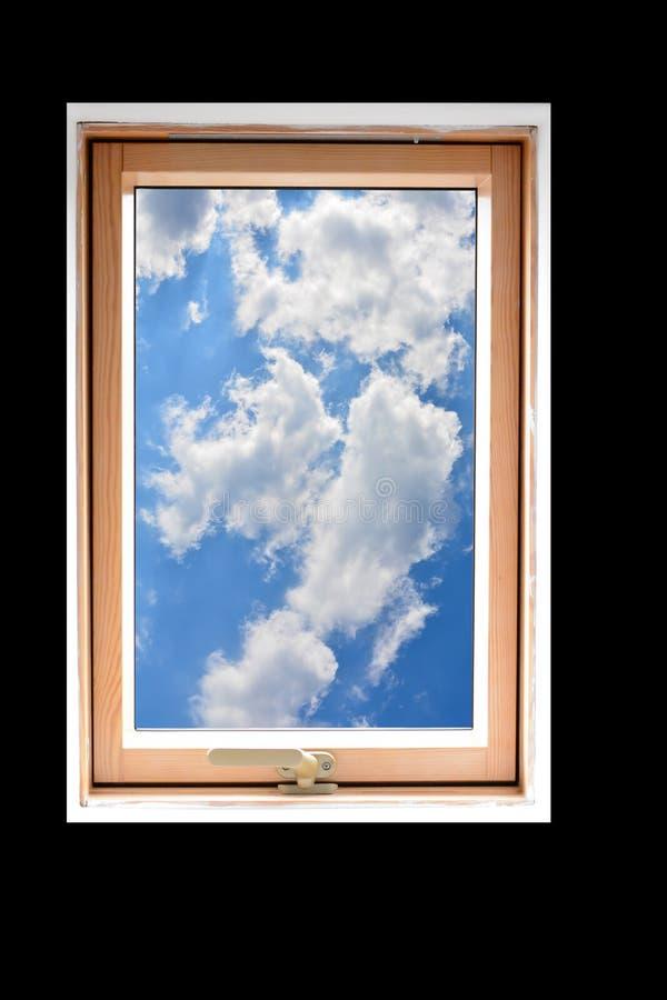 Se ut fönsterramen royaltyfria bilder