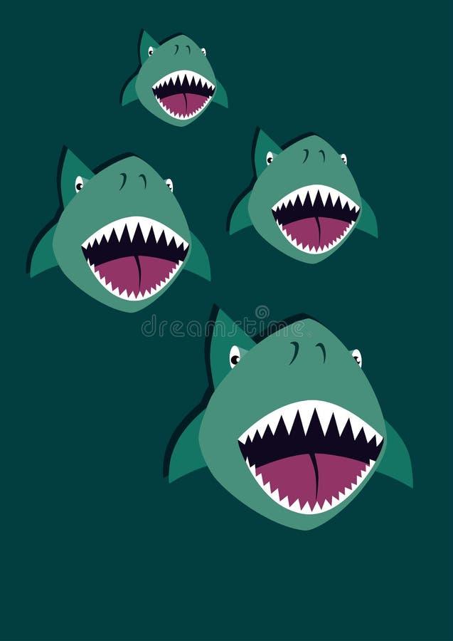 Se ut för hajar royaltyfri foto