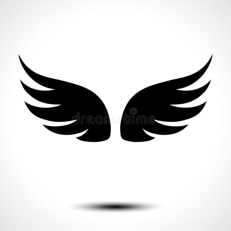 Se va volando el icono en el fondo blanco ilustración del vector