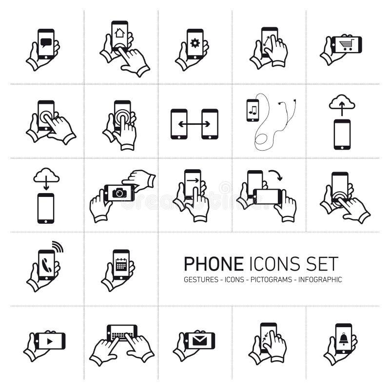 Se van het telefoonpictogram vector illustratie