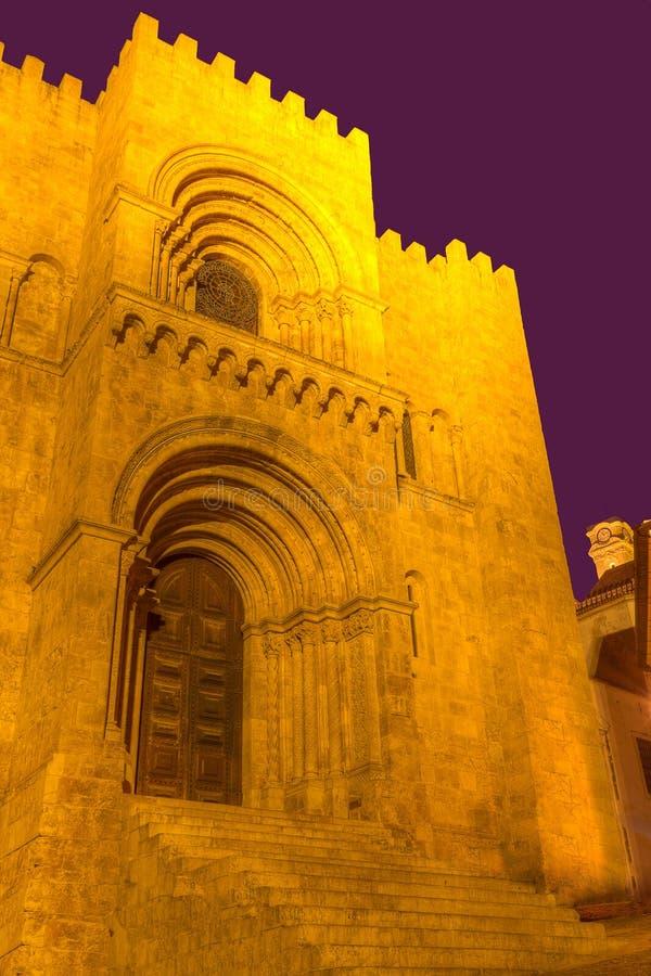SE viejo Velha de Coimbra, Portugal de la catedral imágenes de archivo libres de regalías