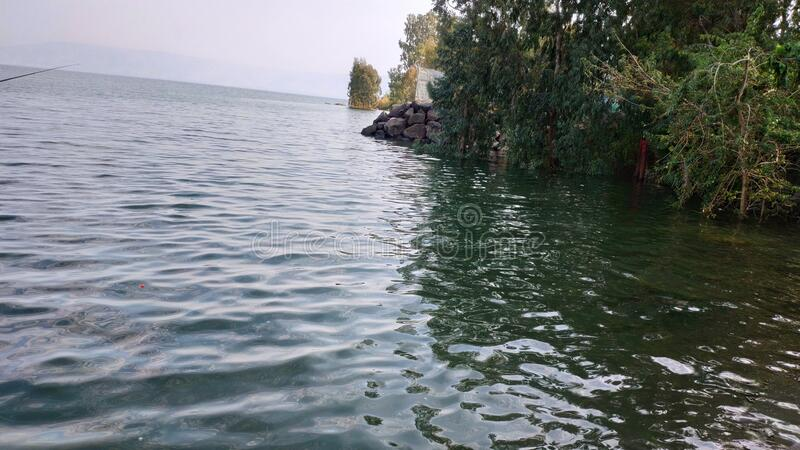 The Sea of ​​Galilee Winter royalty free stock photography