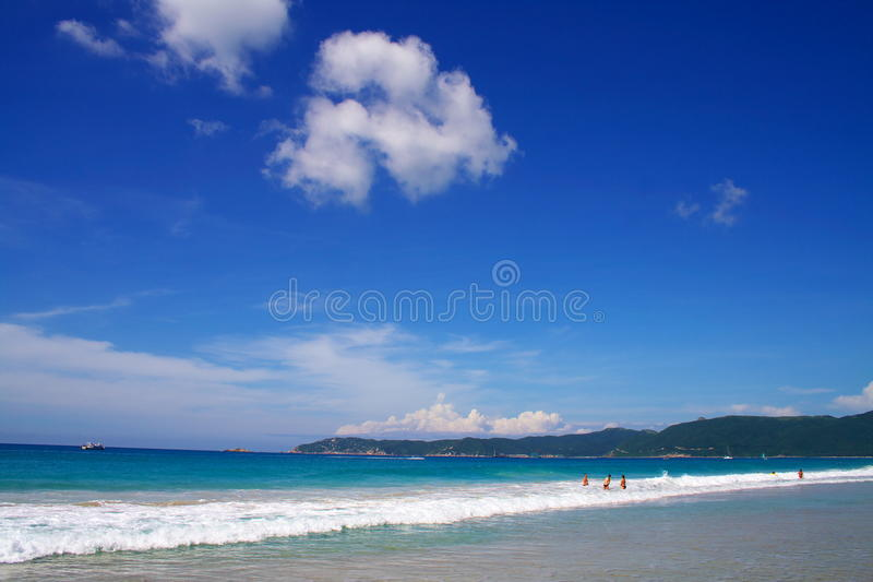 Sea. The blue sea, seaside vacation paradise royalty free stock photos