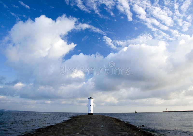 Sea. The Baltic Sea is located in Northern Europe, from 53 deg. to 66 deg. north latitude and from 20 deg. to 26 deg. east longitude. It is bounded by the royalty free stock image