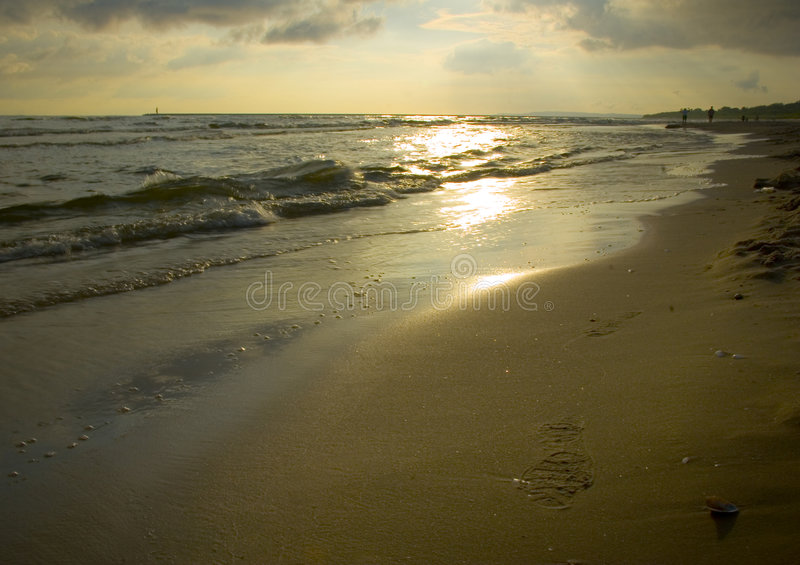 Sea. The Baltic Sea is located in Northern Europe, from 53 deg. to 66 deg. north latitude and from 20 deg. to 26 deg. east longitude. It is bounded by the royalty free stock photos