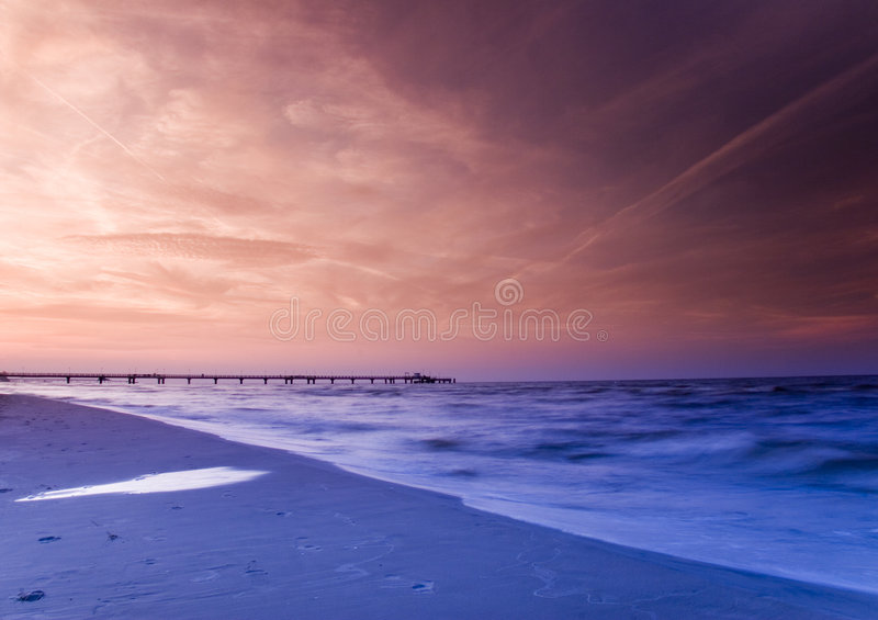 Sea. The Baltic Sea is located in Northern Europe, from 53 deg. to 66 deg. north latitude and from 20 deg. to 26 deg. east longitude. It is bounded by the royalty free stock images