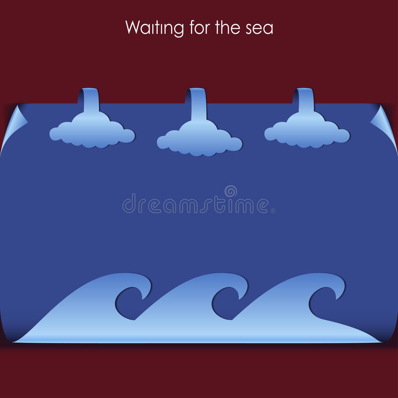 Download Sea stock vector. Illustration of card, logo, vacation - 25632493