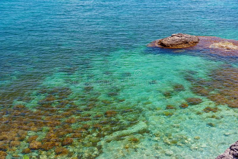 Sea aerial view, Top view, amazing nature background.The color o royalty free stock images