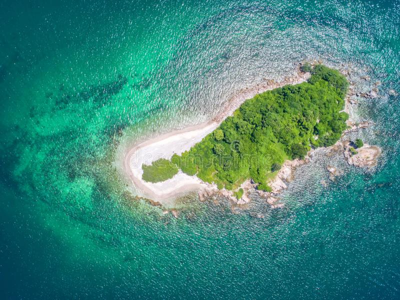 Sea Aerial view, Top view,amazing nature background.The color of. The water and beautifully bright.Azure beach with rocky mountains and clear water of Thailand stock image
