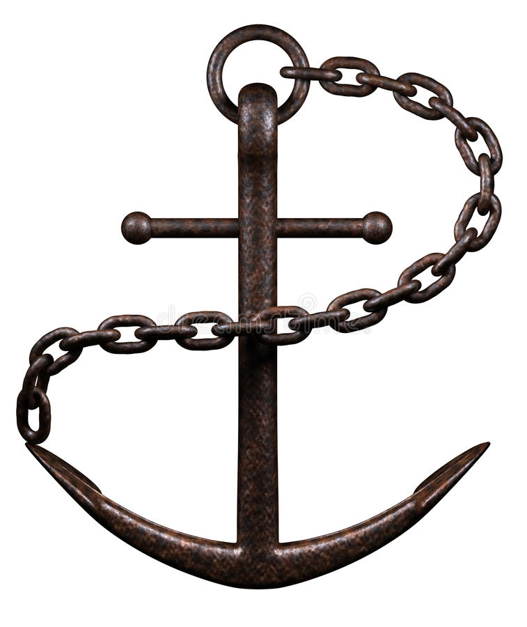 Free Sea Anchor On White Stock Photography - 11185372