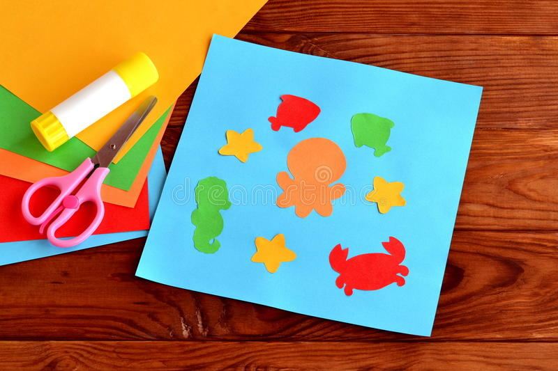 Fish Craft Ideas For Kids Part - 50: Download Sea Animal And Fish DIY Crafts Project Ideas For Kids. Childrenu0027s  Paper Crafts Stock