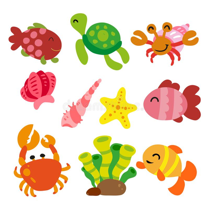 Free Sea Animals Collection Stock Image - 118625511