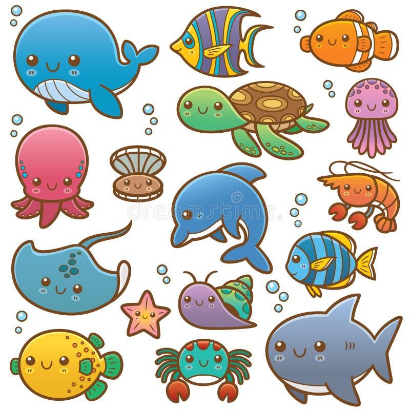 Sea animals. Vector Illustration of Sea animals Cartoon vector illustration