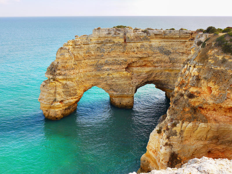 Download Sea Arch In Algarve, Portugal Stock Image - Image of praia, turquoise: 81624869