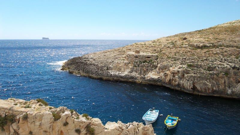 Sea around the Malta Republic stock photography