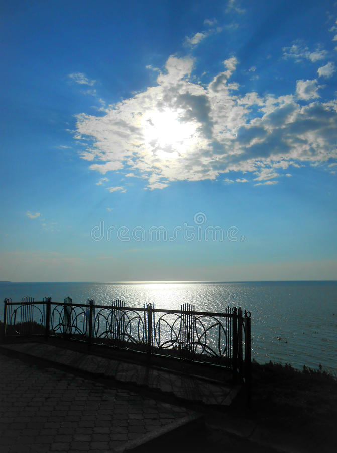 The Sea of Azov. Impressive view of the Sea of Azov stock image