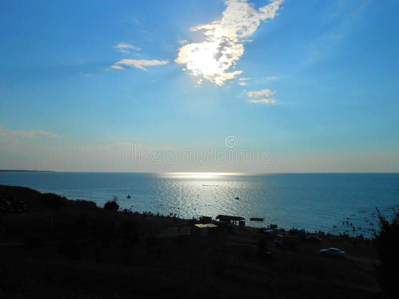 The Sea of Azov. Impressive view of the Sea of Azov stock photos