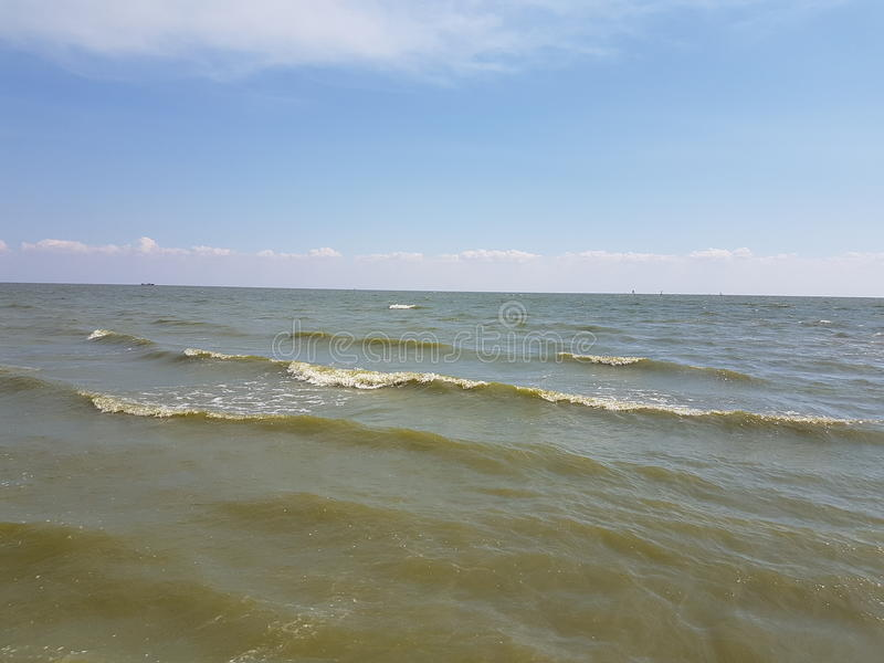 Sea of Azov. Light waves of the Azov Sea royalty free stock photos