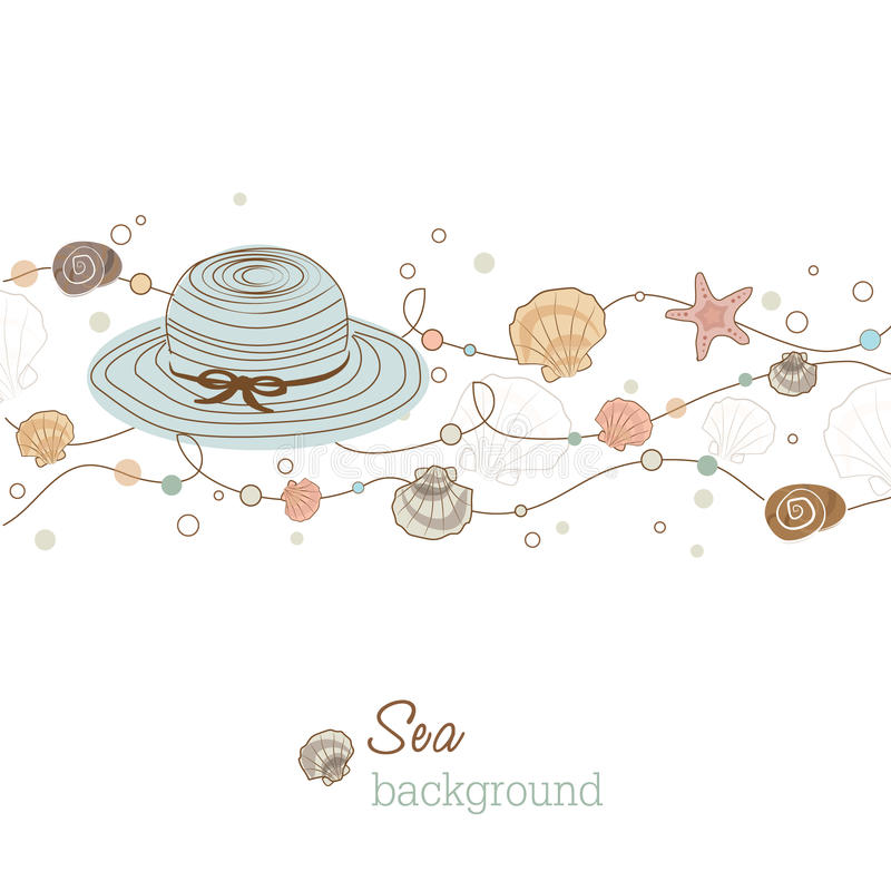 Download Sea background stock vector. Image of circle, nature - 19939012