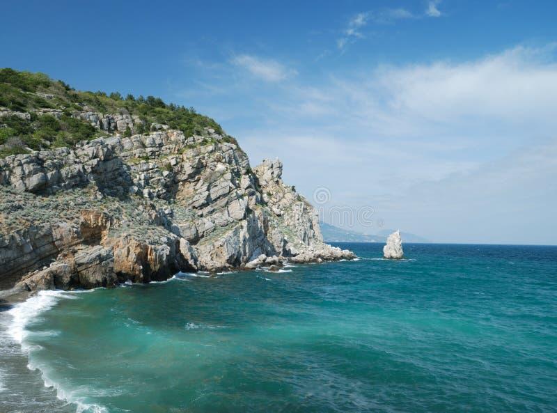 Sea background, Crimea, Ukraine stock photography