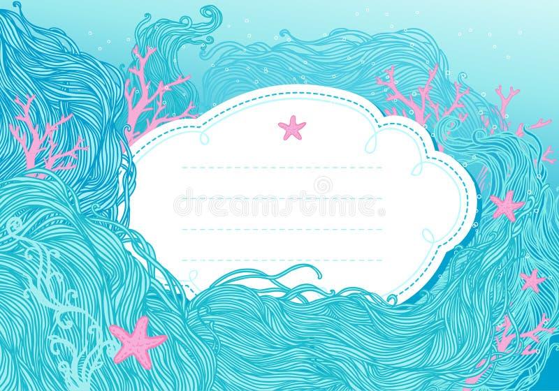 Sea background for design vector illustration