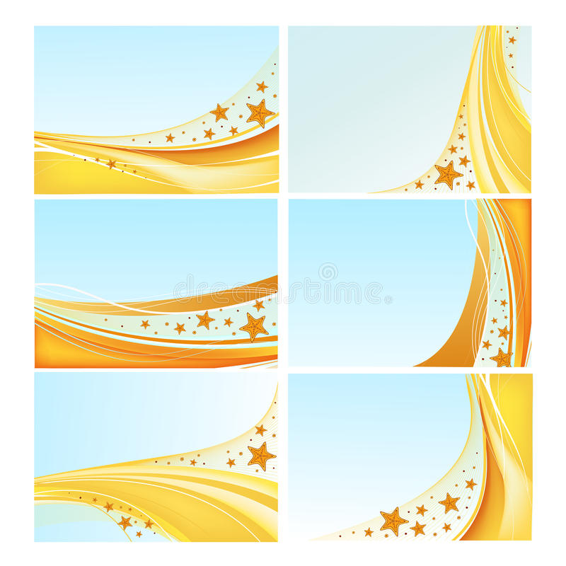 Download Sea Backgrounds Vector Set Stock Images - Image: 25434434