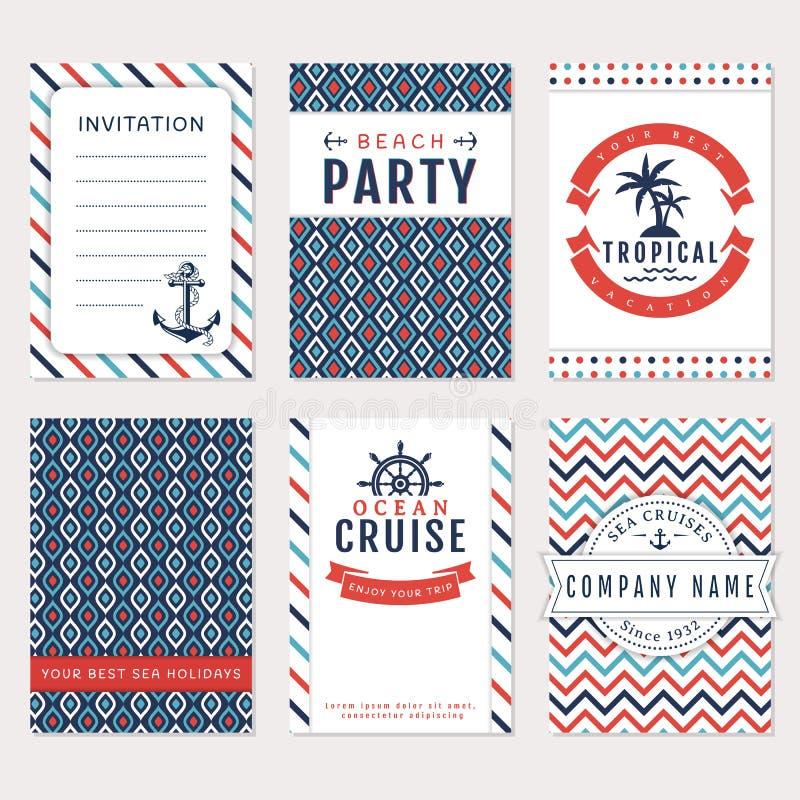 Sea banners. Vector card templates. vector illustration