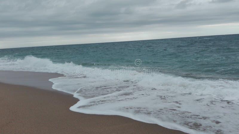 Sea barçalona royalty free stock photos