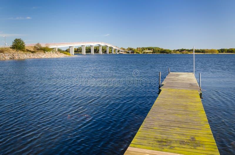 Sea bay Swedish landscape stock photo