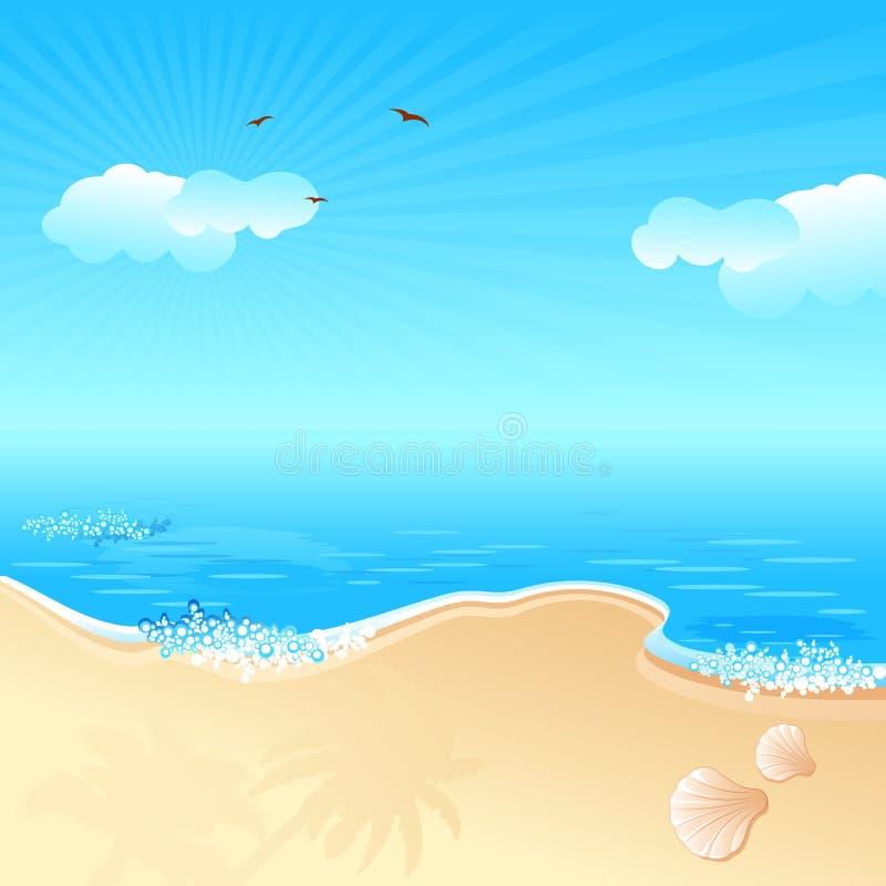 Download Sea Beach stock vector. Image of seascape, scenery, nature - 20368488