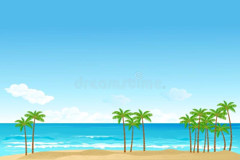 Sea Beach royalty free illustration