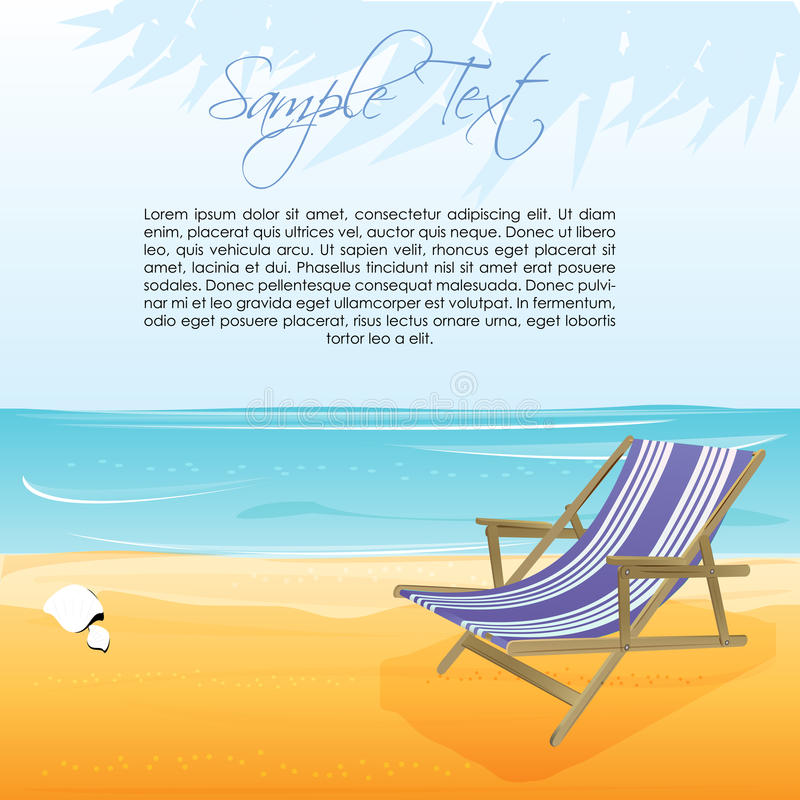 Download Sea Beach With Chair Royalty Free Stock Image - Image: 17548686